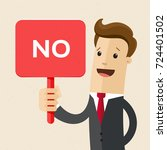 businessman or man holds a sign ... | Shutterstock .eps vector #724401502