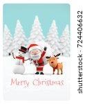 celebration merry christmas... | Shutterstock . vector #724406632