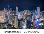 beautiful downtown chicago... | Shutterstock . vector #724408042