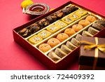 stock photo of indian sweet or... | Shutterstock . vector #724409392
