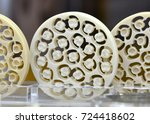 discs for cad cam carved teeth... | Shutterstock . vector #724418602