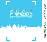welcome to saint petersburg...   Shutterstock .eps vector #724421902