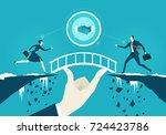 business people running towards ... | Shutterstock .eps vector #724423786