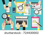 flat design illustration... | Shutterstock .eps vector #724430002