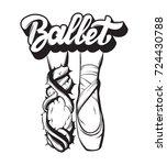 ballet. vector handwritten... | Shutterstock .eps vector #724430788