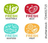 Fresh Food Logo Sign With...