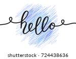 hello vector lettering  card...   Shutterstock .eps vector #724438636