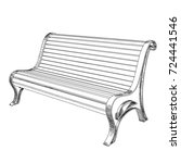 street or park bench made of... | Shutterstock .eps vector #724441546