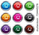old grape juicer set icon... | Shutterstock .eps vector #724445278