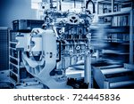 modern automobile production... | Shutterstock . vector #724445836