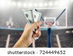 close up of a man's hand... | Shutterstock . vector #724449652