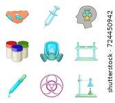 drug icons set. cartoon set of... | Shutterstock .eps vector #724450942