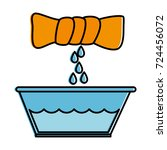 squeeze the clothes icon | Shutterstock .eps vector #724456072