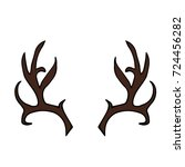 antlers vector illustration.... | Shutterstock .eps vector #724456282