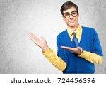 glasses. | Shutterstock . vector #724456396