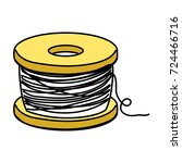 nylon fish object to fishing...   Shutterstock .eps vector #724466716