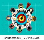 concepts for business analysis... | Shutterstock .eps vector #724468606