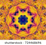 Abstract Kaleidoscope Yellow...