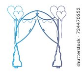line married decoration with... | Shutterstock .eps vector #724470352