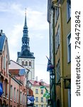 traditional cathedral building... | Shutterstock . vector #724472842