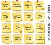 sticky note with text and... | Shutterstock .eps vector #724485586