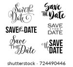 save the date word art text... | Shutterstock .eps vector #724490446