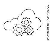 cloud computing with gears | Shutterstock .eps vector #724490722