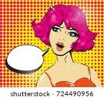 promo girl your advertising...   Shutterstock .eps vector #724490956