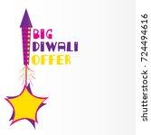 creative big diwali offer... | Shutterstock .eps vector #724494616