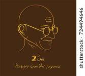 poster of mahatma gandhi  2nd... | Shutterstock .eps vector #724494646