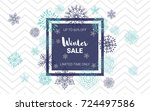 winter sale website banner... | Shutterstock .eps vector #724497586