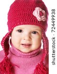 portrait of cute smiling baby... | Shutterstock . vector #72449938