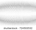 abstract halftone wave dotted...   Shutterstock .eps vector #724503532