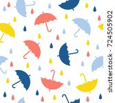 abstract handmade umbrella and... | Shutterstock .eps vector #724505902