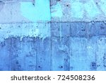 surface of street wall with... | Shutterstock . vector #724508236