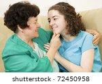 Affectionate Mother Together...