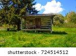 ferguson's cabin  in the smoky... | Shutterstock . vector #724514512