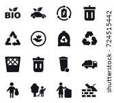 16 vector icon set   bio  eco... | Shutterstock .eps vector #724515442