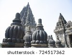 close up of prambanan temple | Shutterstock . vector #724517362