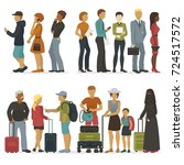 line of young people characters ... | Shutterstock .eps vector #724517572