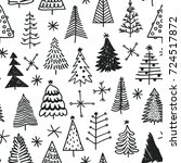 seamless pattern with hand... | Shutterstock .eps vector #724517872