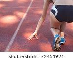 Female Athlete Sprinter In \'on...