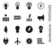 16 vector icon set   bulb  bulb ...   Shutterstock .eps vector #724521652