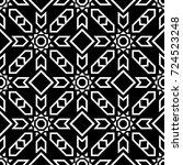 geometric ornament. black and... | Shutterstock .eps vector #724523248