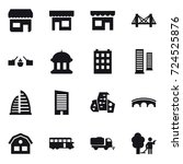 16 vector icon set   shop ... | Shutterstock .eps vector #724525876