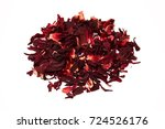 hibiscus tea on a white... | Shutterstock . vector #724526176