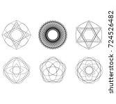 festive geometric pattern for... | Shutterstock .eps vector #724526482