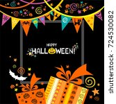 happy halloween. celebration... | Shutterstock . vector #724530082