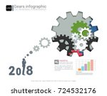 gears infographic template for... | Shutterstock .eps vector #724532176