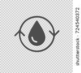 water cycle symbol. vector icon ... | Shutterstock .eps vector #724540372